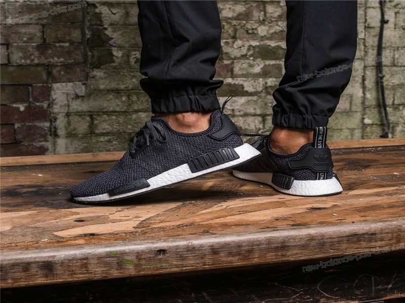 Adidas Nmd r1'Exclusive Reflective'Core Black ★ ★ ★ Qualité Garantie À 100% - Adidas Nmd r1'Exclusive Reflective'Core Black ★ ★ ★ Qualité Garantie À 100%-01-3